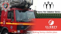 Volunteer with Surrey Fire and Rescue Service