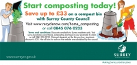 £33 off a compost bin with Surrey County Council