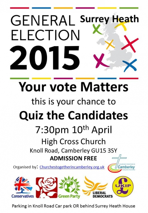 May 2015 Election Hustings
