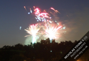 Fireworks in Chobham on Saturday 29th Oct